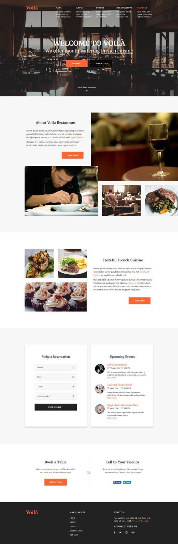 Макет сайта ресторана высокой кухни