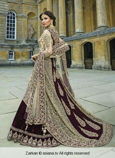 Zarkan..muslim bridal outfit.. nice color