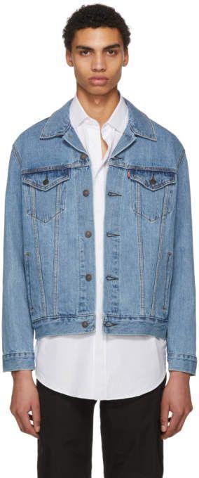 Levi S Levis Blue Denim Trucker Jacket Long Sleeve Denim Jacket Jackets Denim Jacket Men