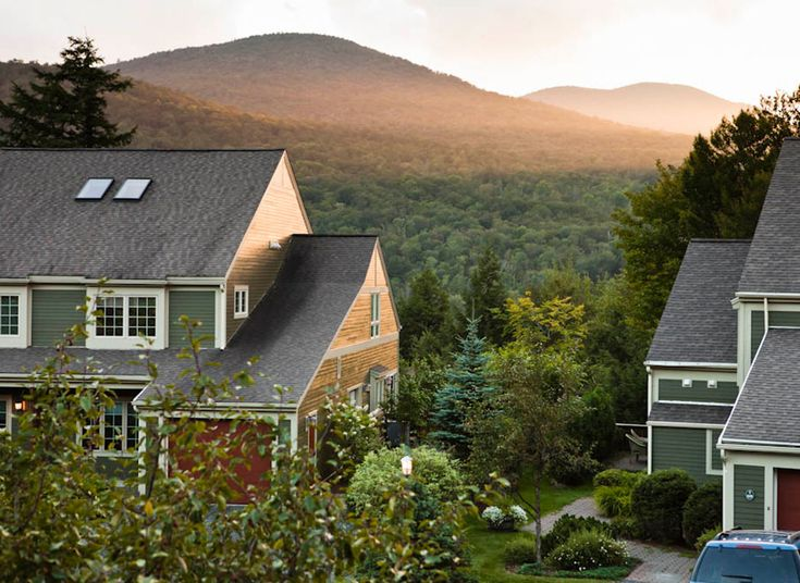 Topnotch Resort Stowe, Vermont Trip Ideas tree sky building house property home residential area suburb cottage roof rural area landscape Farm residential Village farmhouse old Town Garden
