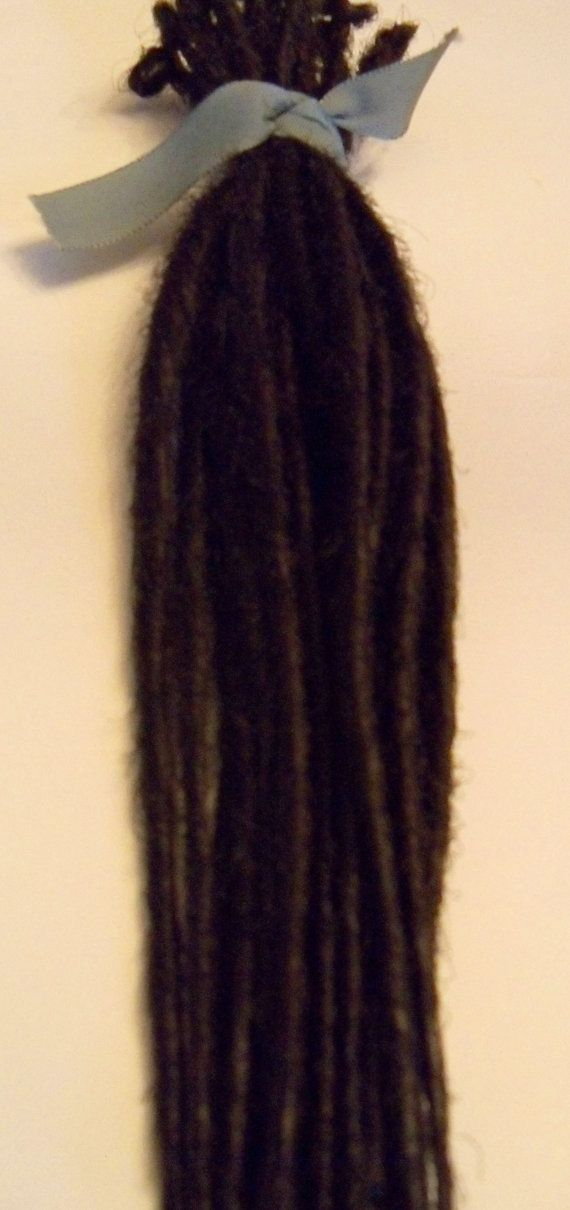 20+Dark+Brown+SE+Synthetic+Dreads+Hair+Extensions+by+damnationhair,+$25.00