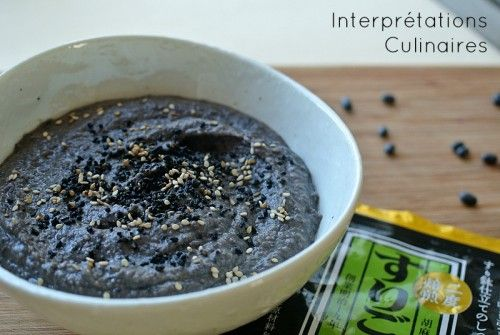 Black houmous | Interprétations Culinaires