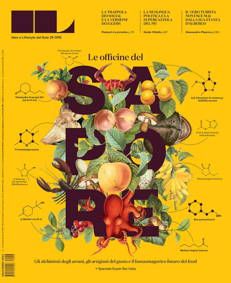 cover of IL issue no. 56 (The Second Annual Food Issue) / art directed by Francesco Franchi