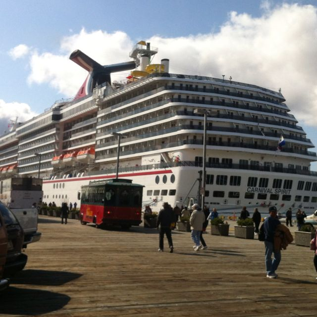 Our Carnival Spirit Cruise ship docked in Ketchikan Alaska