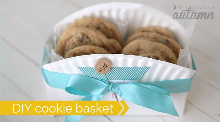 Cute Easy Homemade Cookie Packages ! DIY cookie Gift Basket -Made from a paper plate !