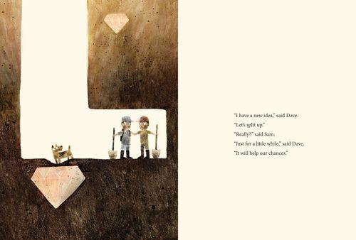 Sam & Dave Dig a Hole by Mac Barnett, illustrated by Jon Klassen. Barnett's website.