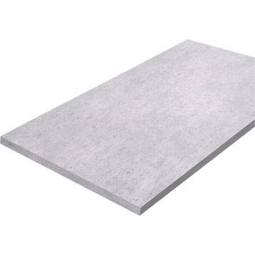 Plateau de table Décor béton en aggloméré mélaminé, 150x80 cm, ép. 22 mm | Leroy Merlin Pour mon coin atelier ?