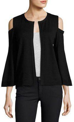 Shop Now - >  https://api.shopstyle.com/action/apiVisitRetailer?id=621116409&pid=2254&pid=uid6996-25233114-59 Kobi Halperin Julianne Cold-Shoulder Open-Front Cardigan, Black  ...