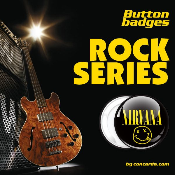 Concarda.com rock series badge buttons