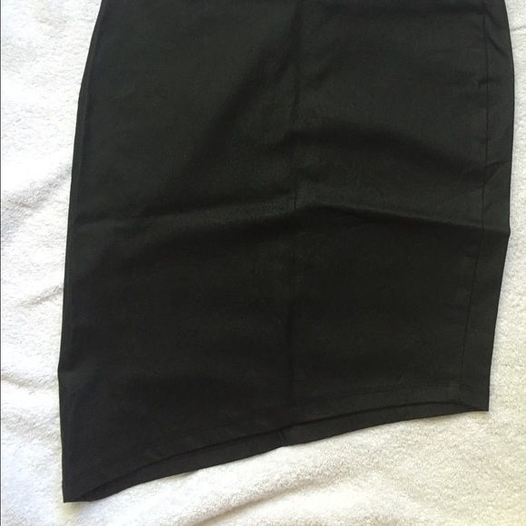 Asymmetric Short Black Skirt! Very cute edgy tight black skirt Skirts Asymmetrical
