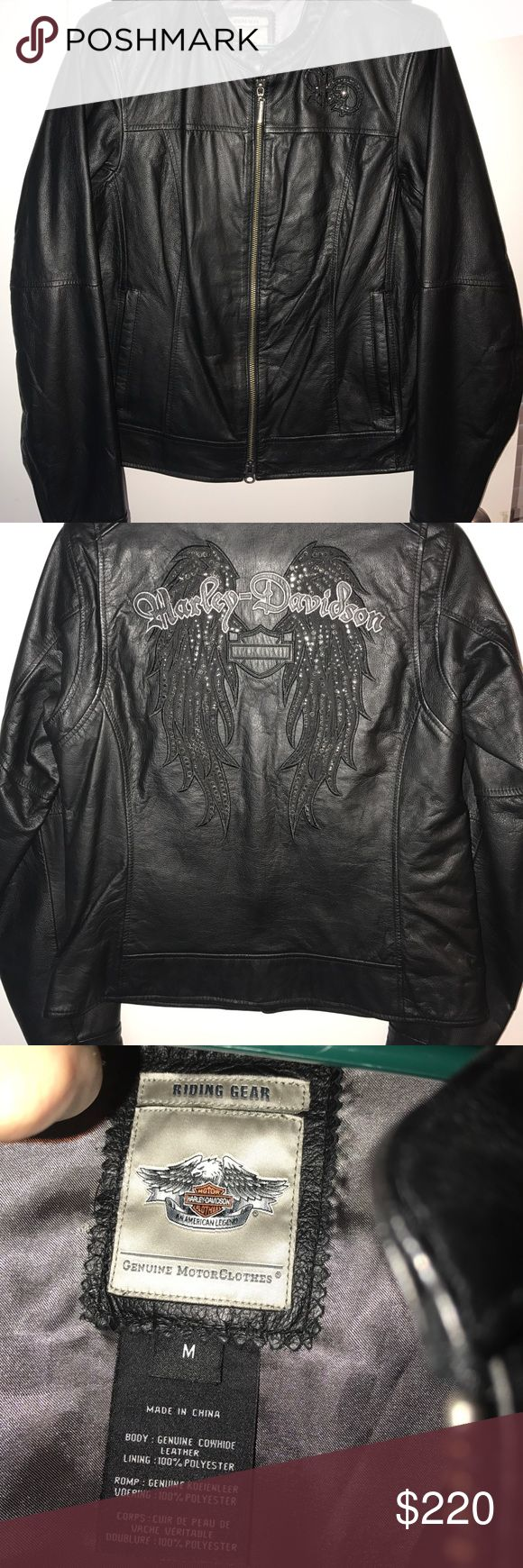 Harley Davidson leather jacket Worn only 3 times. Beautiful Harley jacket feel free to ask for more pictures Harley-Davidson Jackets & Coats