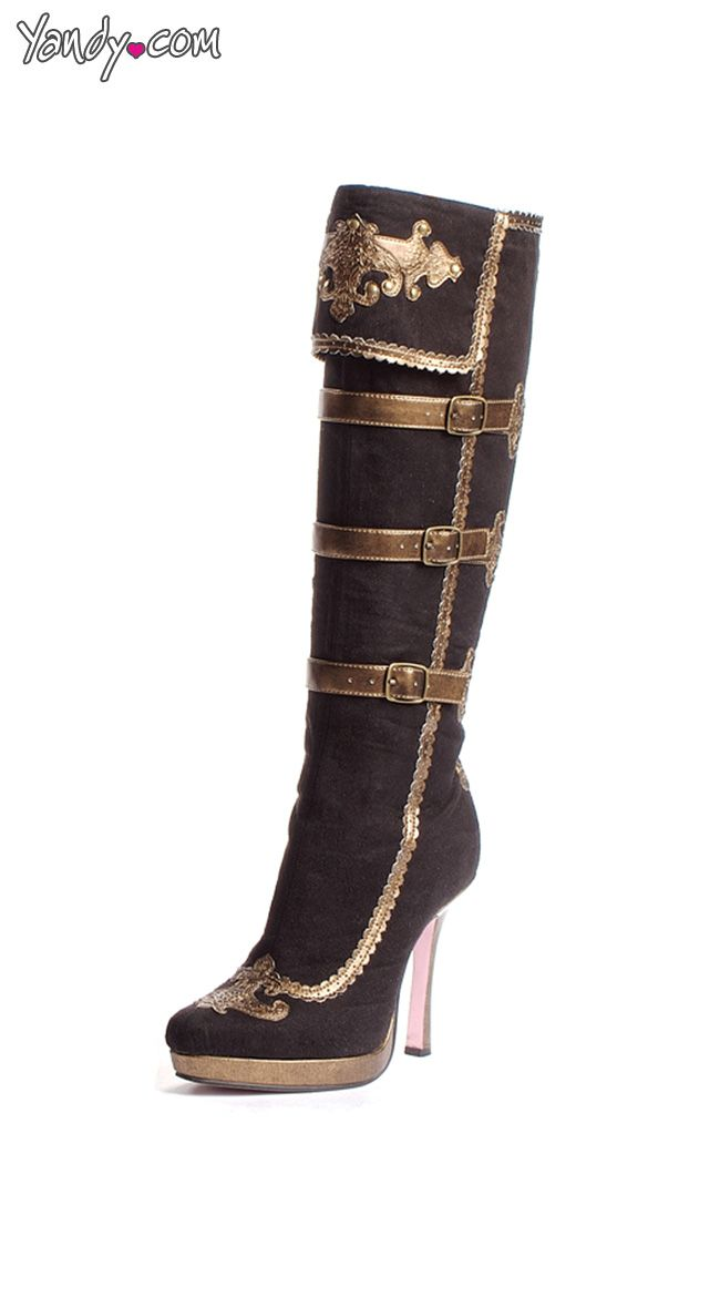 Black and Gold Pirate Boots/Fantastic!