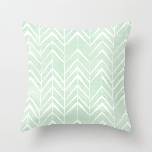 Mint Chevron Arrows throw pillow by LaFelizCelebrations on Etsy, $38.00