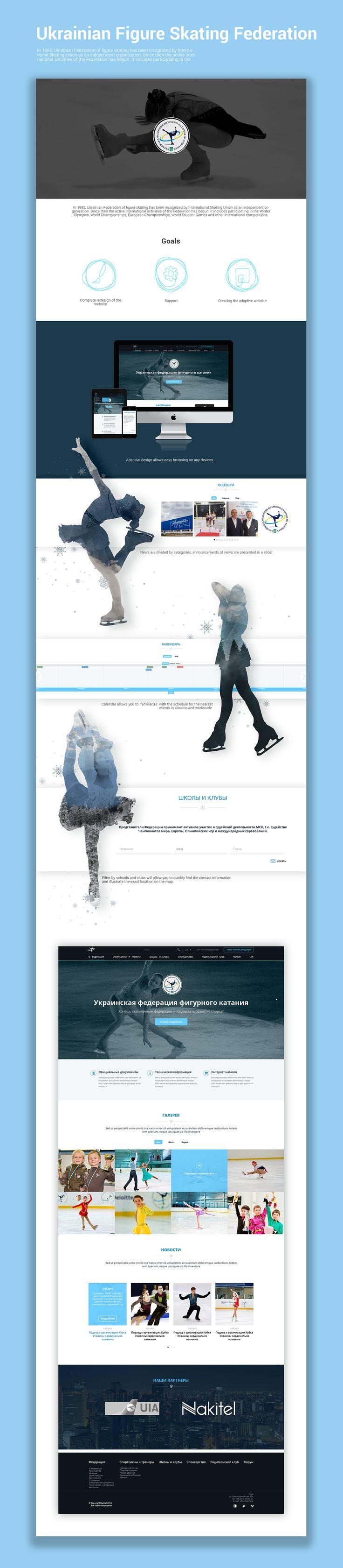 Ukrainian Figure Skating Federation Website on Behance