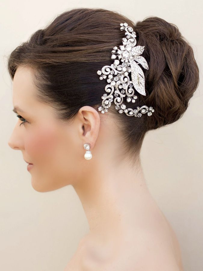 Hair Comes the Bride - Vintage Inspired Rhinestone Bridal Hair Clip ~ Sienna, $98.00 (http://www.haircomesthebride.com/vintage-inspired-rhinestone-bridal-hair-clip-sienna/)