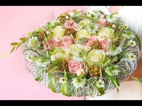 Modern bridal bouquet | How to make | Arend Roses - YouTube