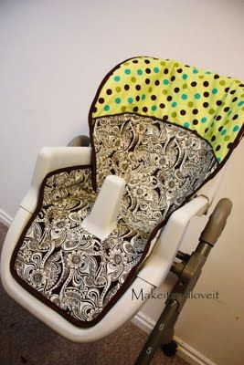 Tutorial: Refashion and Recover your old highchair. Same concept can be applied to Carseats!