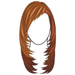 long layered choppy hairstyle with side swept bangs: