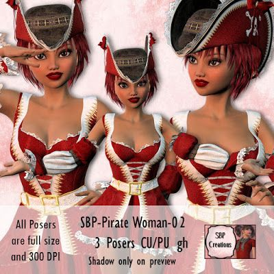 SBP Creations: Pirate Woman 02