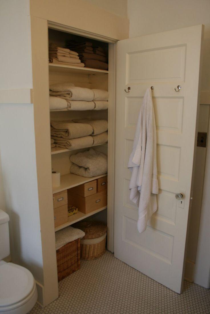 91 best Linen Closet images on Pinterest   Organized linen closets ...