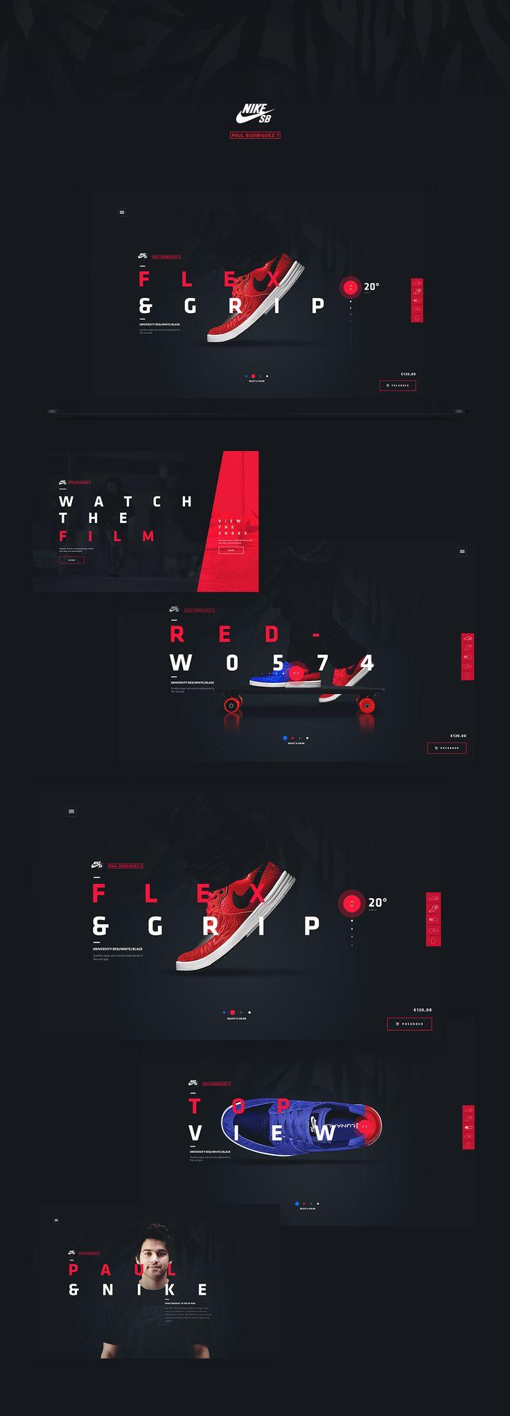 Nike - POD7 Microsite on Behance
