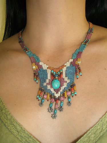 weaving with needle necklace   Flickr - Photo Sharing!