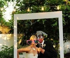 smile booth Polaroid frame idea!!  wedding inspiration | The Cordelle Www.thecordelle.com