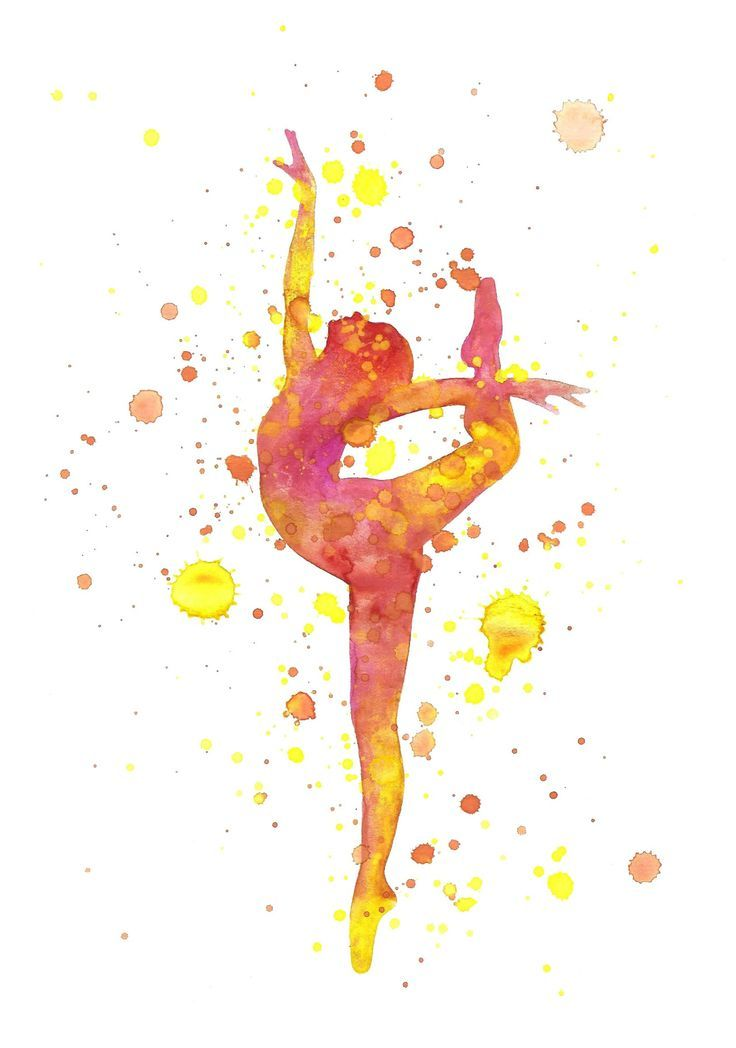 Jasmin Ekström Ballerina watercolor illustration
