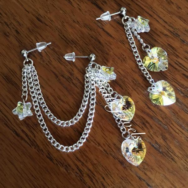 Crystal's Light - Double Piercing Earrings – PrettiJewels