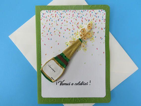 Tarjeta de felicitación  Champán  Eventos especiales