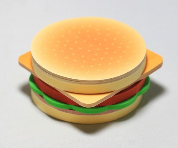 Cheeseburger Sticky-Note Pad