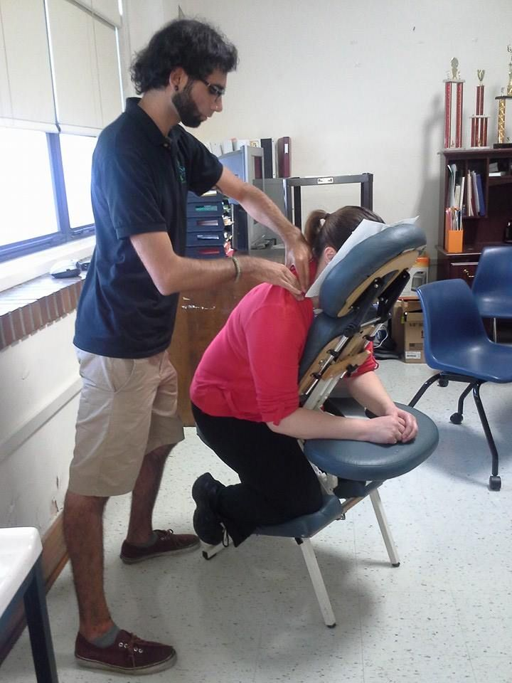 Check out Mobile Massage Mission, follow the link to donate. http://www.gofundme.com/mobilemassagemission We're giving free chair massage to some very hardworking and grateful teachers at James Madison High School in south Dallas today. What a blessing it is to offer a few moments of peace in their hectic days at this large inner city school!