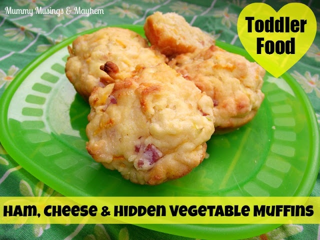 A quick and easy muffin full of  vegetables and cheesy goodness....even the fussiest toddler won't know they are eating something good for them!