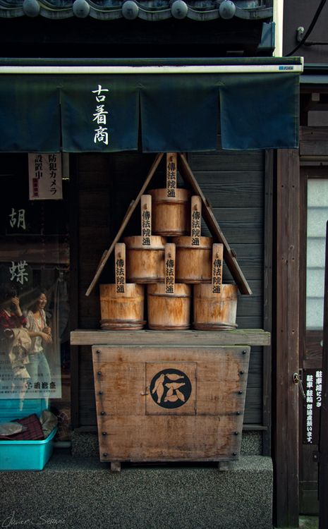everything looks great in japan, sake barrels  -------- #japan #japanese #sake