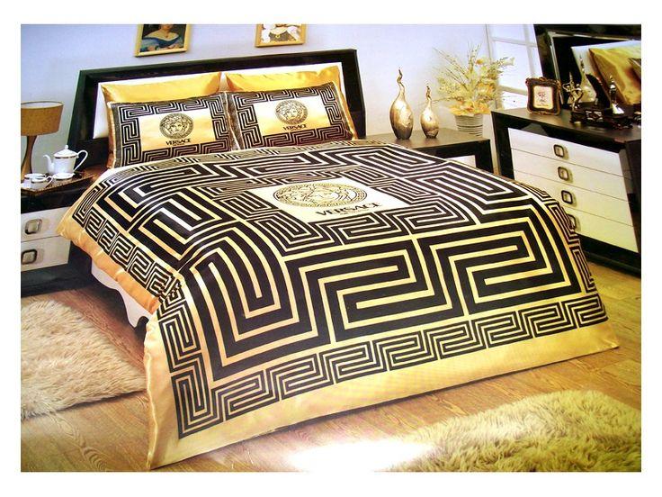 Versace Bed | VERSACE BEDDING SET SATIN MEDUSA ( DUVET SET ) BLACK/GOLD |  If I Had An Apartment Above My Garage... | Pinterest | Duvet Sets, Medusa  And ...
