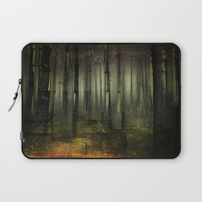 Why am I here Laptop Sleeve by HappyMelvin. #nature #darkforest #forests #original #laptops #laptopsleeve