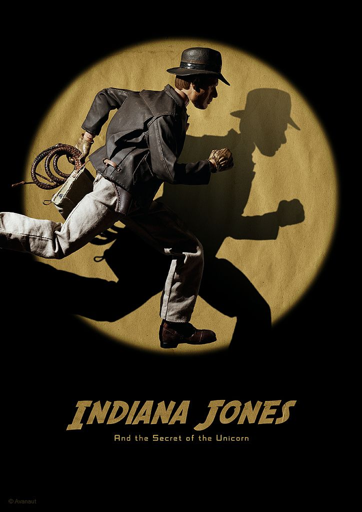 Indiana Jones gets a fun Tintin PosterMakeover - News - GeekTyrant