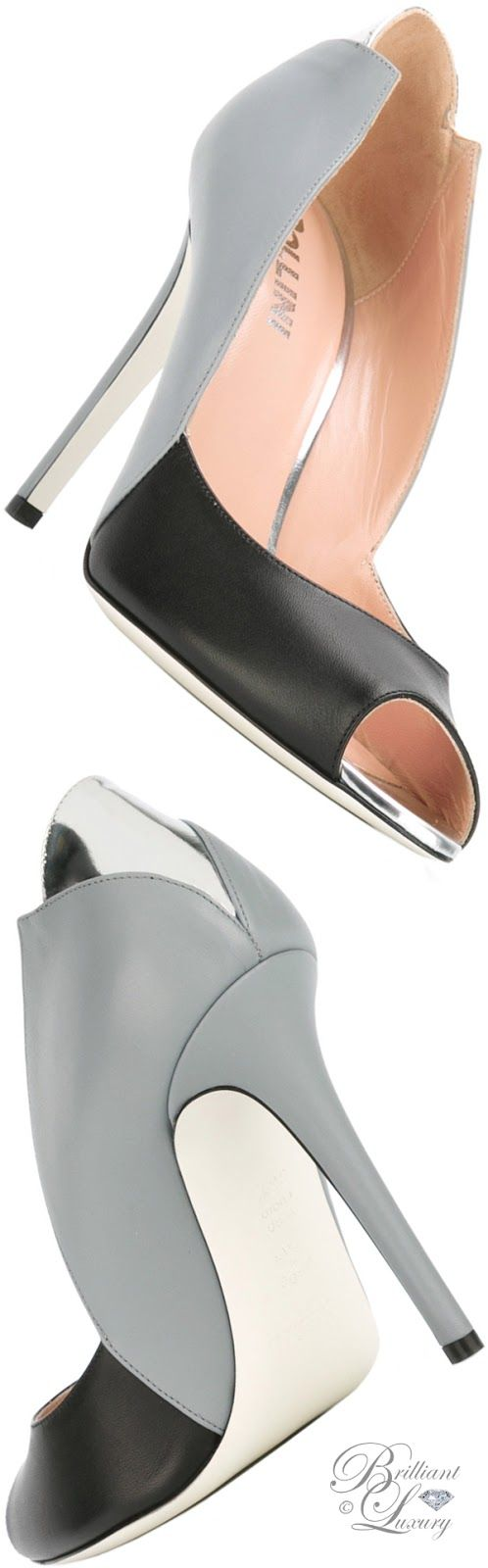 Brilliant Luxury by Emmy DE ♦ Pollini Contrast Sandals