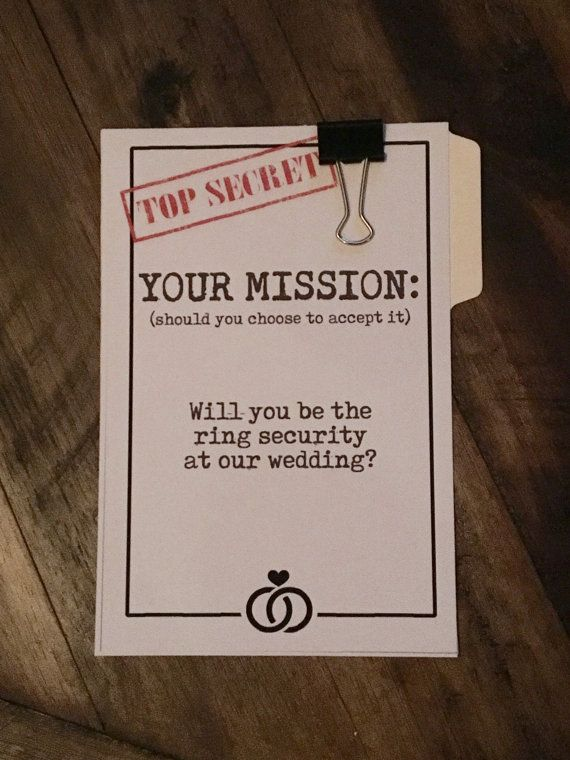 Ring Security Ask Ring Bearer / Ring by CastleHallCreative on Etsy                                                                                                                                                     More