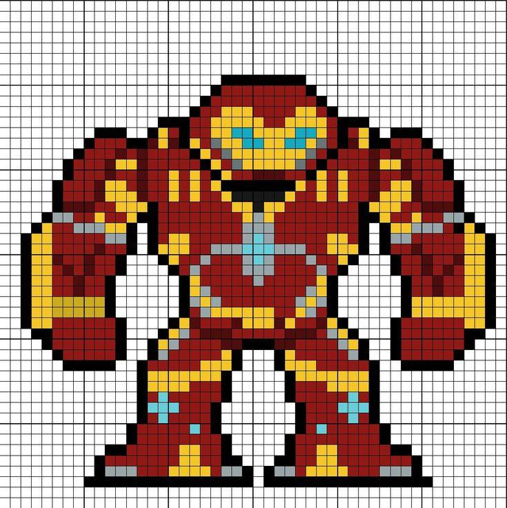 Hulkbuster Perler Bead Pattern