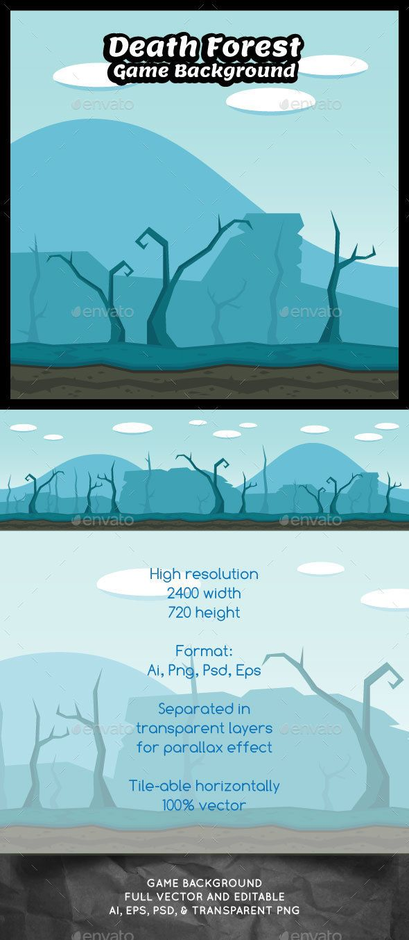 Death Forest Game Background - #Backgrounds #Game #Assets Download here: https://graphicriver.net/item/death-forest-game-background/14487455?ref=alena994