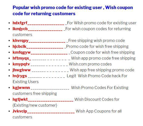 99 Off Wish Promo Code App Store Wishlist Code Promo Wish 2018 Code Promo Wish Augast 2018 Code Promo Wish Deja Cli Wish App Promo Codes Coupon Promo Codes
