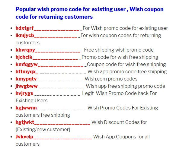 50 Wish Promo Code March 2020 Free Shipping Wish App Promo