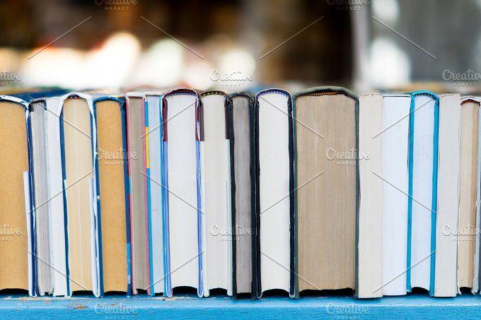 Old books market. by YolandaAlemany on @creativemarket
