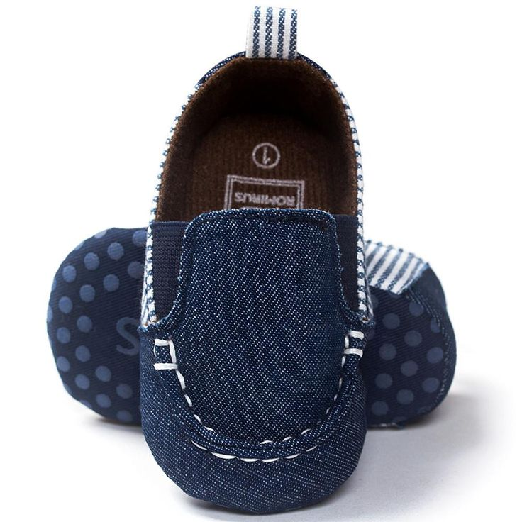 Boy's Blue Denim Loafer Slip-On Shoes