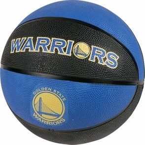 Golden State Warriors Baden 4Logo Rubber Basketball - Royal/Black