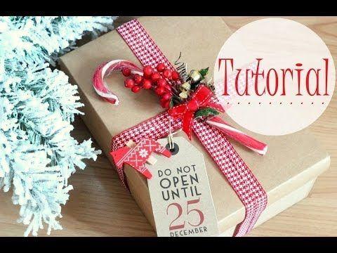 Idee per impacchettare regali di Natale TUTORIAL - YouTube