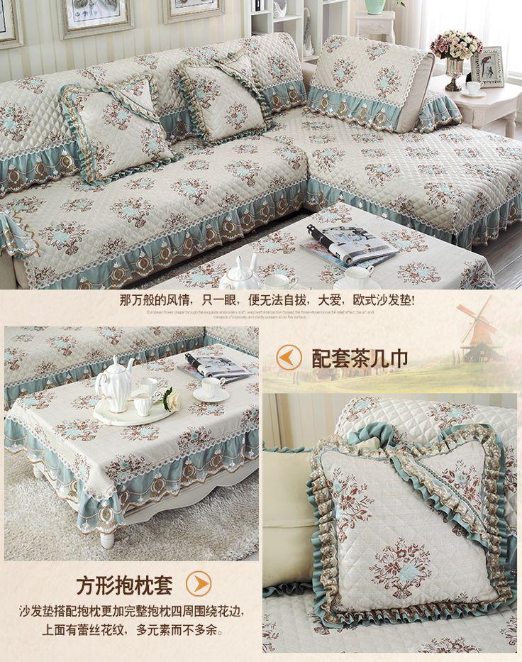 Европейский высокосортной льняная ткань дивана подушки подушки скольжения минималистский современный чехол диван полотенце Four Seasons Общие Обложка - глобальная станция Taobao