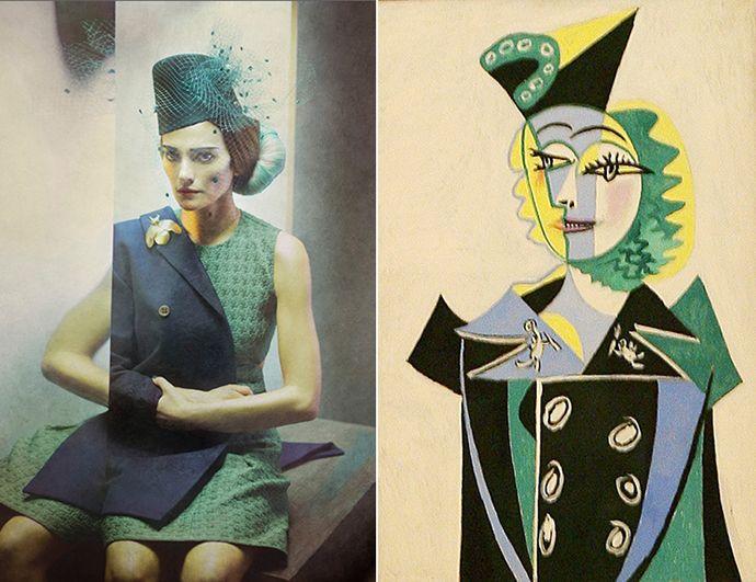 Eugenio Recuenco, 2012; Pablo Picasso, ''Nusch Éluard'', 1941.
