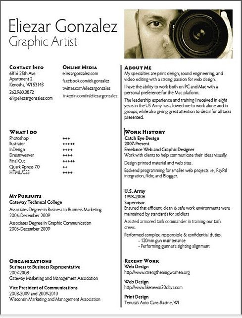 Graphic Design resume examples   Photography  graphic design  web  tendencies  inspiration roundups  oyulaw